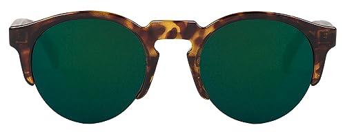 MR.BOHO, Cheetah tortoise born with dark green lenses – Gafas De Sol unisex multicolor (carey), talla única