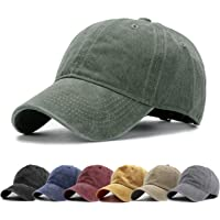92ccf2a9 HH HOFNEN Men Women Washed Twill Cotton Baseball Cap Vintage Adjustable Dad  Hat