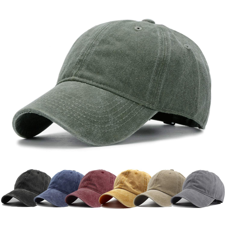 ff45e6aa1 HH HOFNEN Men Women Washed Twill Cotton Baseball Cap Vintage Adjustable Dad  Hat