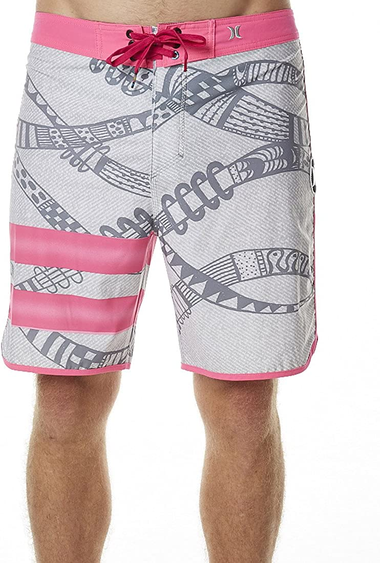 Hurley Mens Phantom Julian Snapper Fashion Board Shorts Grey/Pink