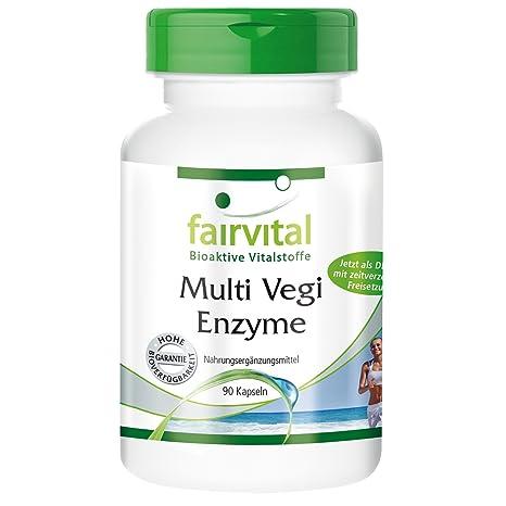 Enzimas veganas - 90 cápsulas (DRcapsTM) con un complejo de enzimas ...
