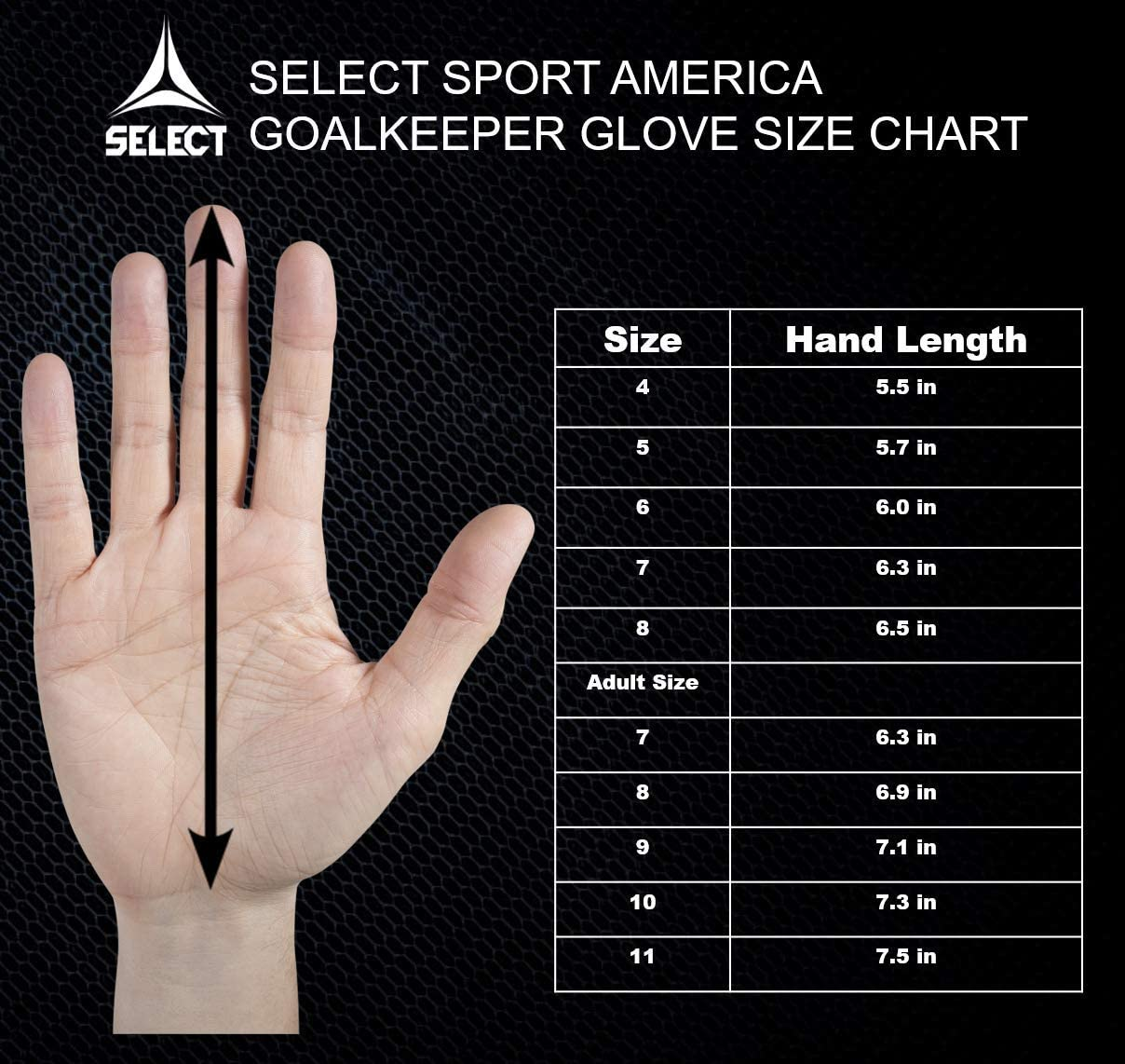 Select 03 Youth Guard Goalkeeper Gloves with Finger Protection