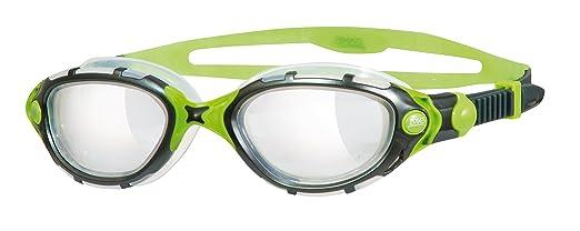 5 opinioni per Zoggs Predator Flex Titanium Reactor- Occhialini da nuoto, colore: Nero/Verde