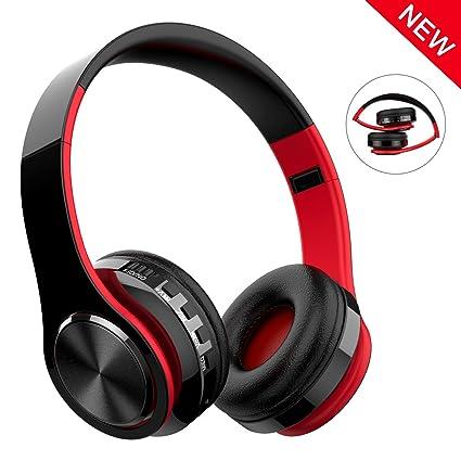 Cascos Bluetooth Inalámbrico, Macrout Auriculares de Diadema Portatiles con Micrófono, FM Radio Manos Libres
