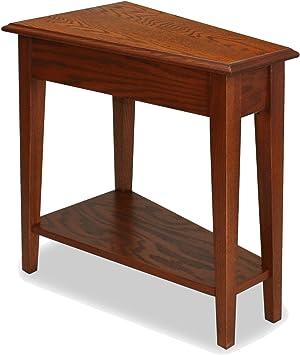 Amazon Com Leick Recliner Wedge End Table Medium Oak Kitchen