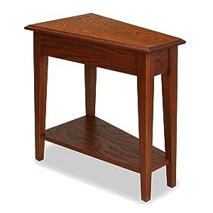Leick Recliner Wedge End Table, Medium Oak