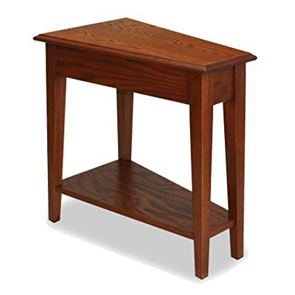 Amazoncom Leick Recliner Wedge End Table Medium Oak Kitchen Dining