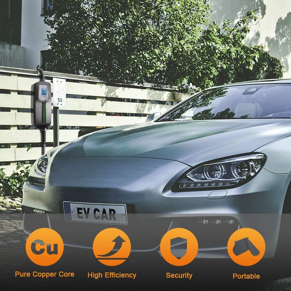 Electric Vehicle Charger Compatible with All EV Cars NEMA14-50 26ft 220V-240V Upgraded Portable EV Charging Cable Station BESENERGY 32 Amp EV Charger Level 2