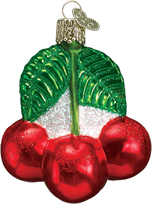 Old World Christmas Fruit Selection Glass Blown Ornaments for Christmas Tree Cherries