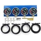 Motorcycle Carb Carburettor Synchronizer Vacuum Balancer Gauge 2 / 4 Cylinder Sync Gauges Kit