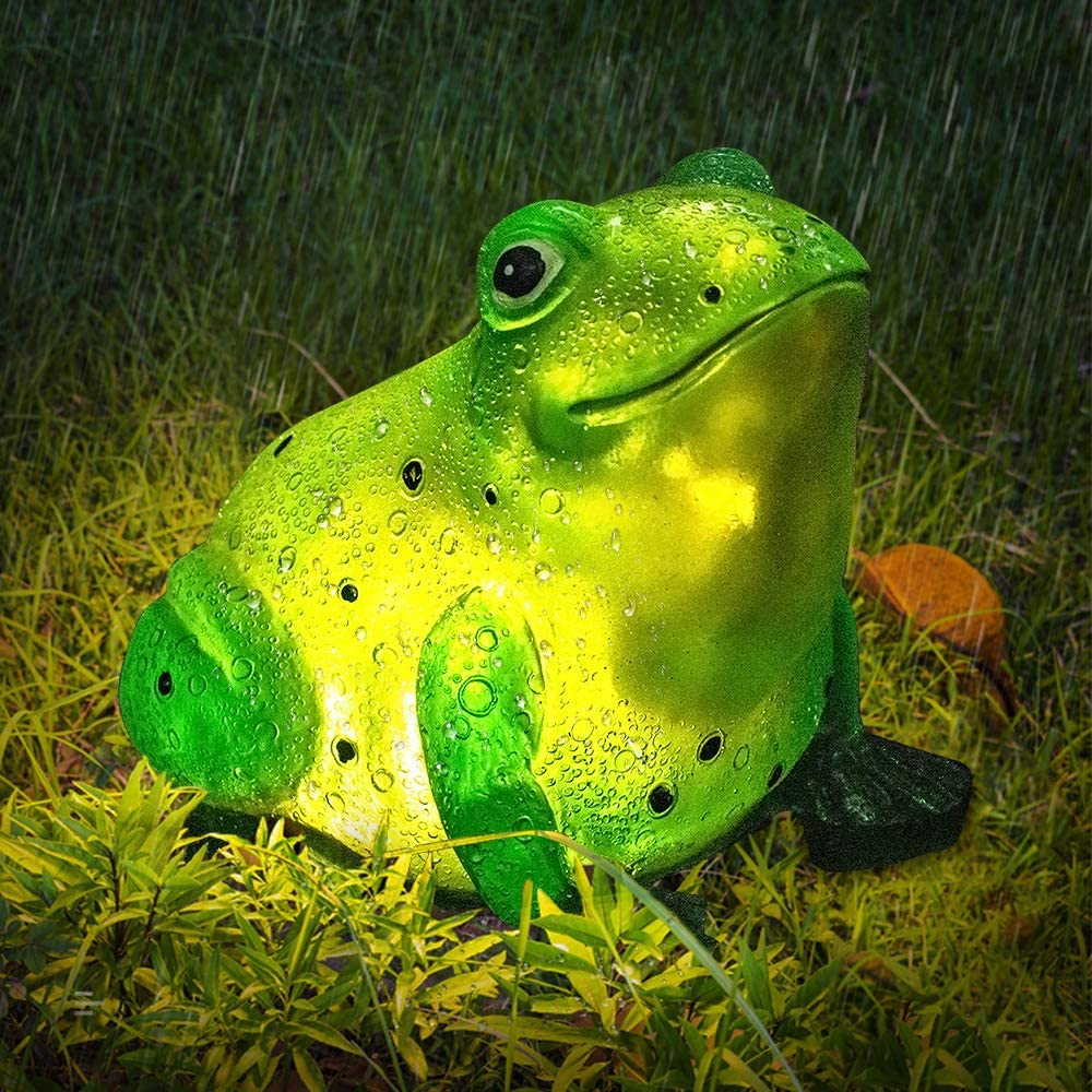 Frog Solar Garden Light Waterproof for Outdoor Patio Yard Decorations
