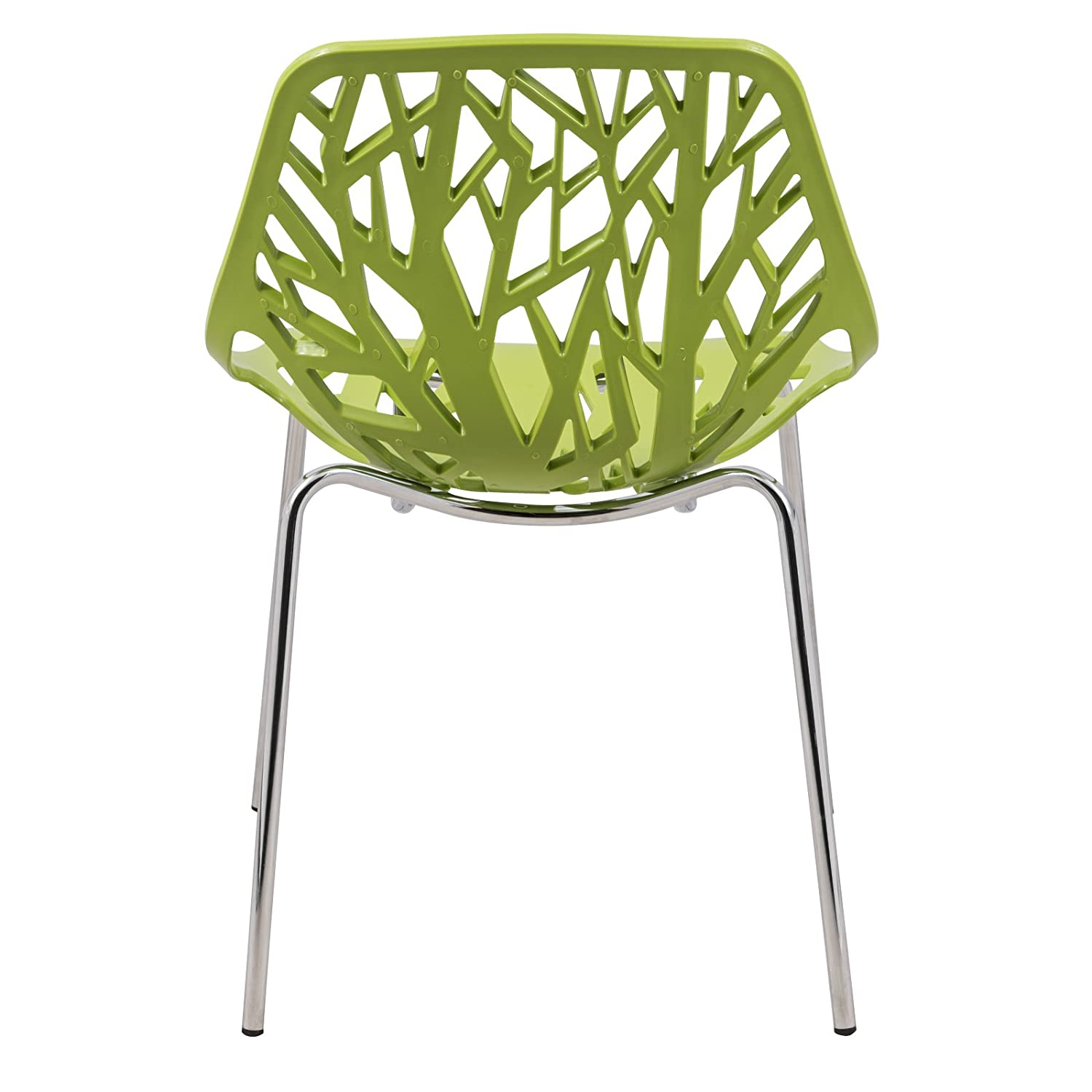 Amazon.com - LeisureMod Modern Asbury Dining Chair with Chromed Legs Green Set of 2 - Chairs  sc 1 st  Amazon.com & Amazon.com - LeisureMod Modern Asbury Dining Chair with Chromed Legs ...