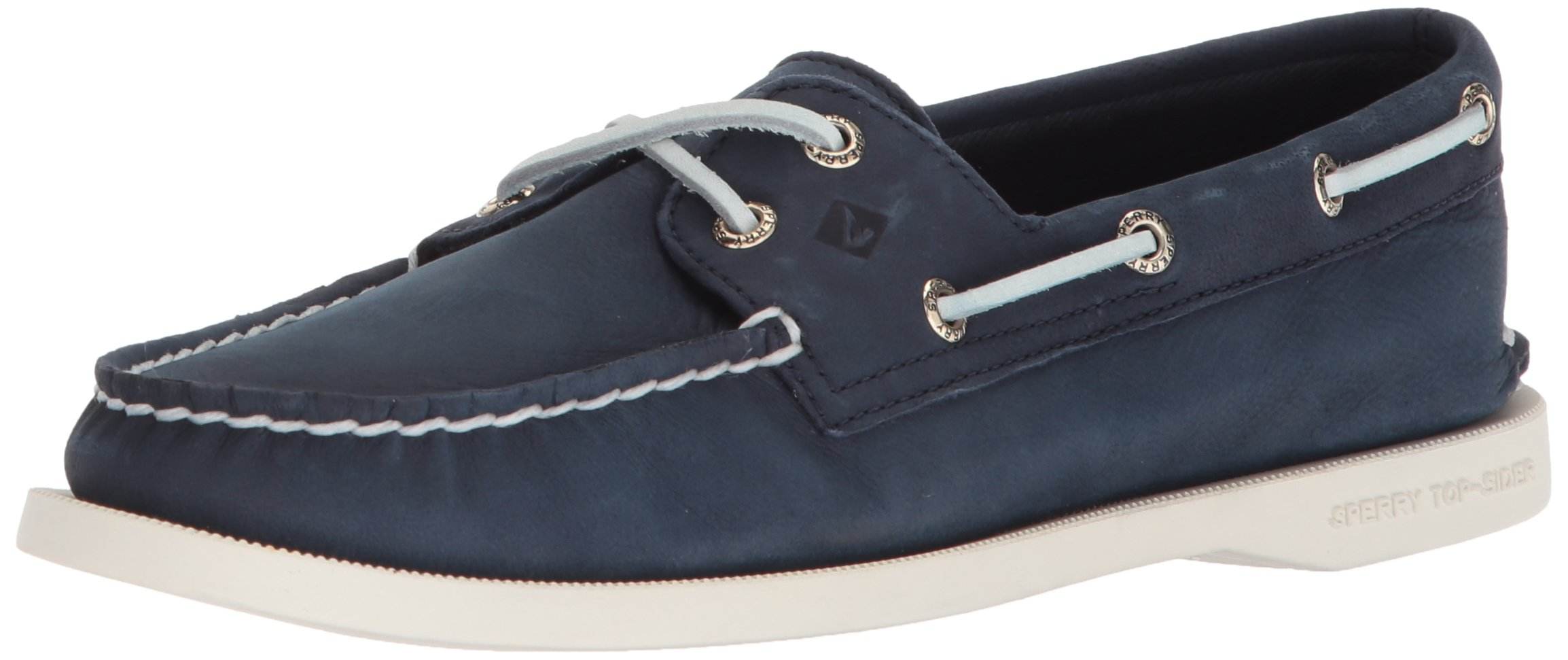 Sperry Top-Sider Women's a/O 2-Eye Boat Shoe, Navy, 6.5 Wide US by Sperry Top-Sider