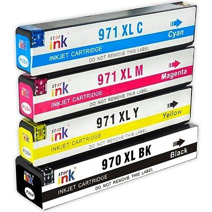4 pcs Starink HP 970XL 971XL Tintas Cartuchos Compatibles para ...