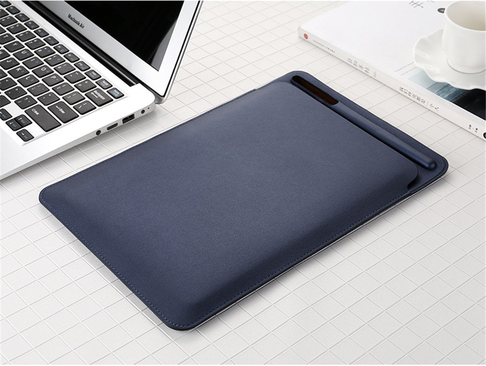 Premium PU Leather Protective Sleeve Case Cover with Apple Pencil Holder for the New Apple iPad Pro 10.5 Inch 2017 Pinhen for iPad Pro 10.5 Sleeve Case Grey