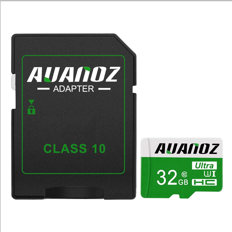 Con Adattatore Tablet e PC Rosso-32gb Micro SD Card 32 GB Auanoz Micro SDHC Classe 10 Scheda Di Memoria Ad Alta Velocit/à UHS-I Per Telefoni