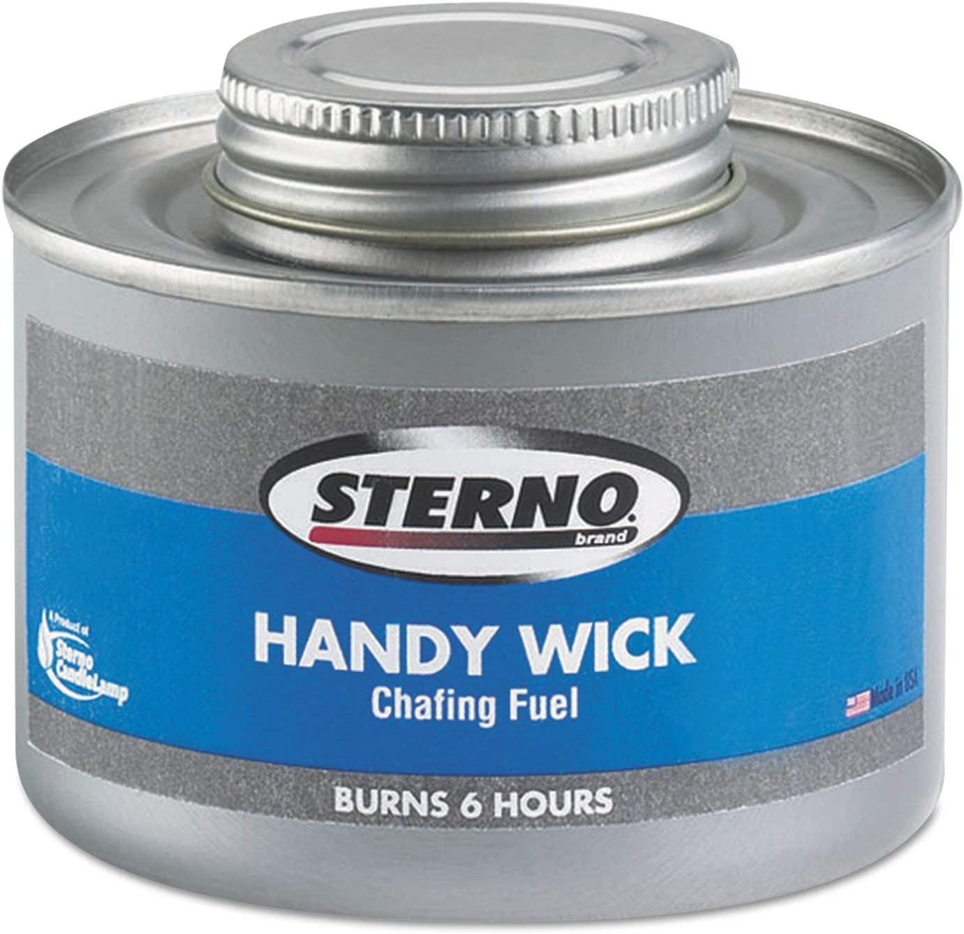 Four-Hour Burn Can Sterno Handy Wick Chafing Fuel Methanol 24//carton