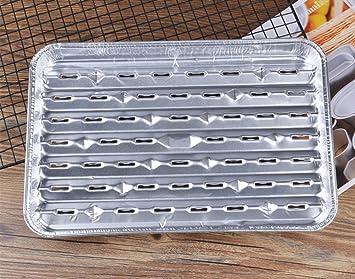 benbroo Pack de 10 para barbacoa de aluminio desechables bandejas de aluminio, casa/jardín
