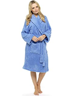Ladies Dressing Gown Shaggy Soft Fleece Women Gowns Robe Bathrobe  Loungewear for her 6da699b78