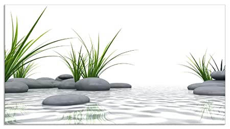 Glasbilder Wandbild Druck auf Glas 120x60 Gras Wassertropfen Natur