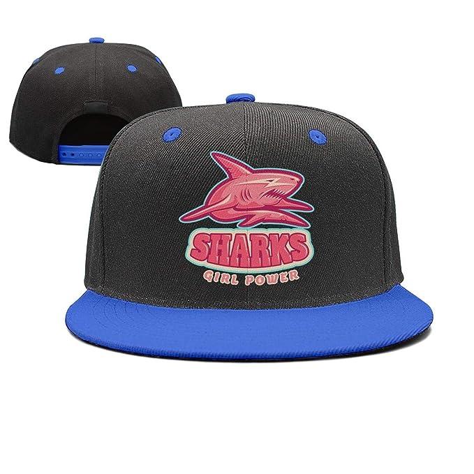 Unisex Flat Cap Pink Shark Girl Power Baseball Cap Adjustable Sun ... e5e5ef3e92a