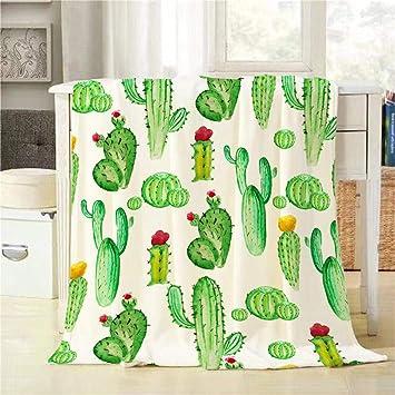 Amazon.com: Mugod Cactus manta de acuarela Cactus patrón sin ...