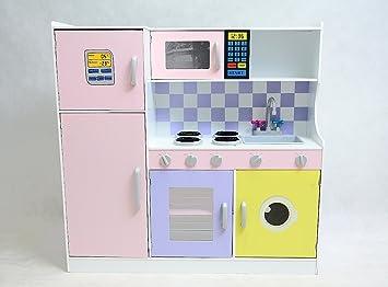 Aufbau Kühlschrank Qualität : Best for kids kinderküche w10c004 spielküche aus holz mit