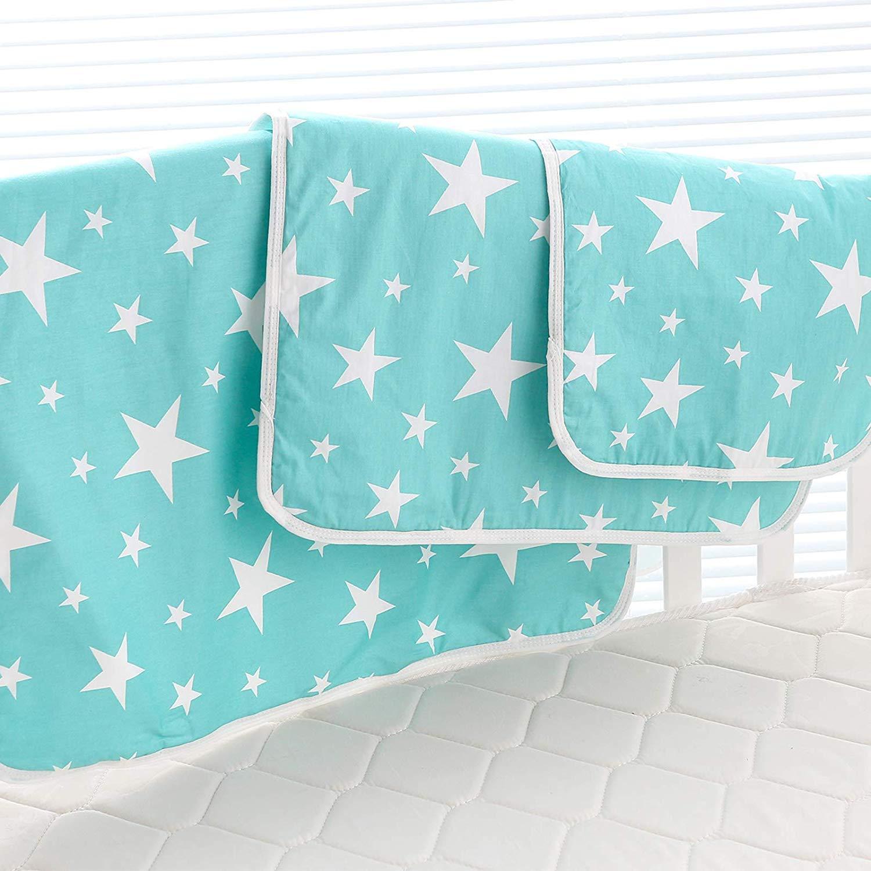 3 Pièces Matelas Pads Couche lavable Drap imperméable pour lit de bébé Protège matelas 35 x 45 cm Bébé Couche imperméable Matelas à langer Fantasy Star, S