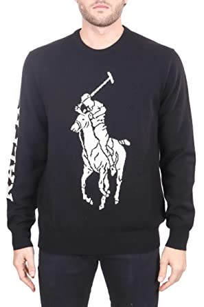 Polo Ralph Lauren Camiseta Negra, Bordado Maxi Logo Delantero ...