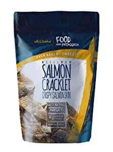 Williwaw Salmon Cracklet Pack – 0.7 oz – Gluten Free High Protein Snacks – Keto Friendly, High in Collagen, Up-Cycling, Crispy, Patagonia – Natural Oven Baked Crackers 4 Pack (Smokey)