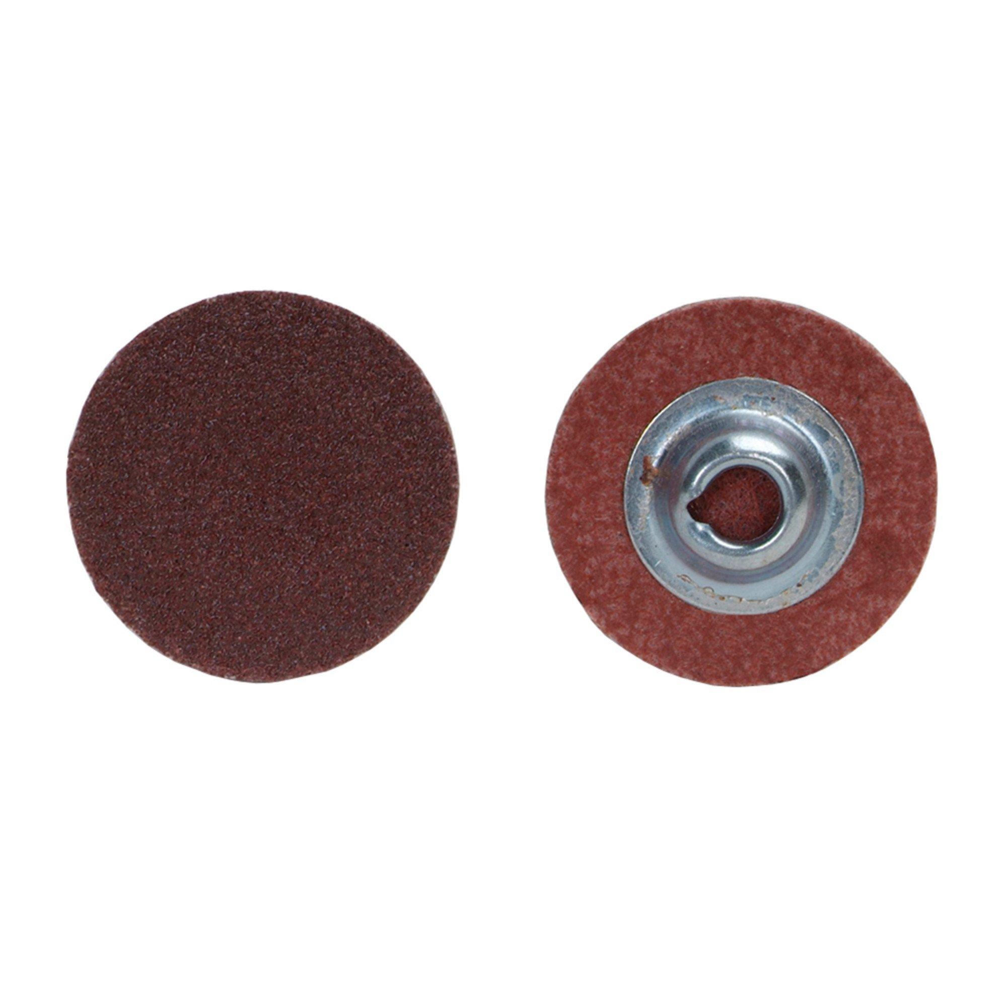 Norton R228 Metalite Speed-Lok Abrasive Disc, Cloth Backing, TS, Aluminum Oxide, 2'' Diameter, Grit 80   (Pack of 100) by Norton Abrasives - St. Gobain