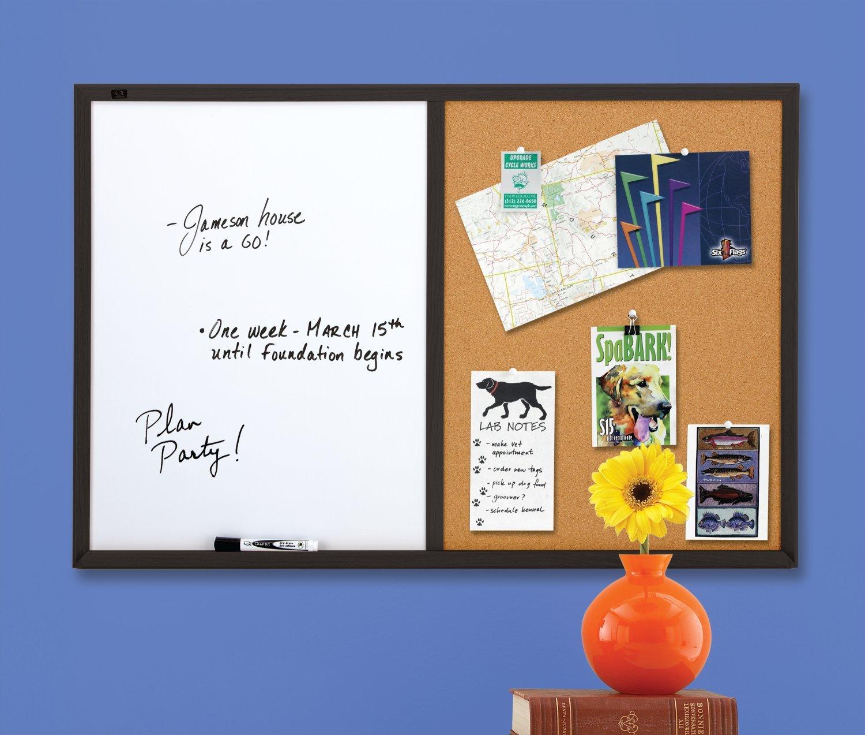 Quartet Dry Erase Board & Cork Board Combination, 2 x 3 Feet, Whiteboard & Corkboard, Black Frame (95223B) by Quartet (Image #4)