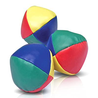 ArtCreativity Juggling Balls Set for Beginners Set of 3 - Durable Juggle Ball Kit - Soft Easy Juggle Balls for Kids and Adults - Multi Colored: Toys & Games