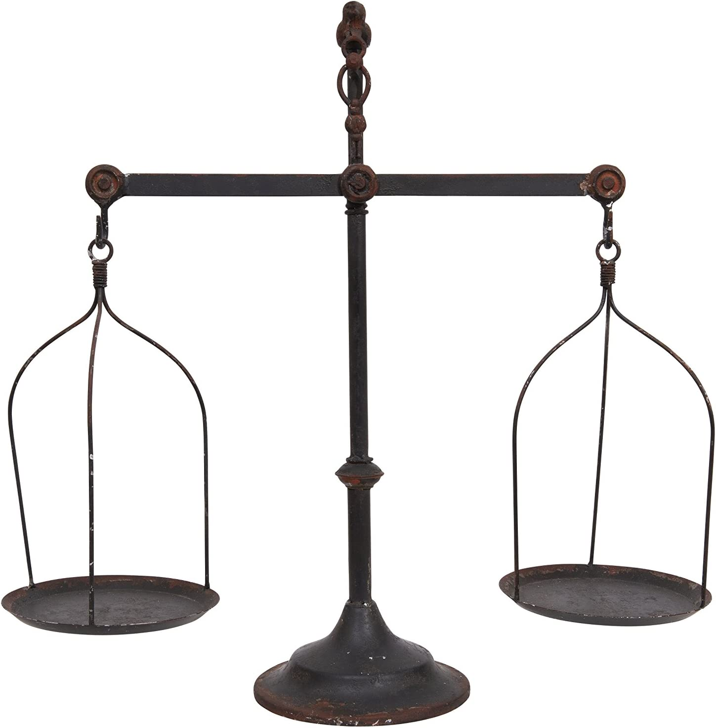 Amazon Com Creative Co Op Decorative Distressed Vintage Metal Scale With Bird Finial Bronze Home Kitchen