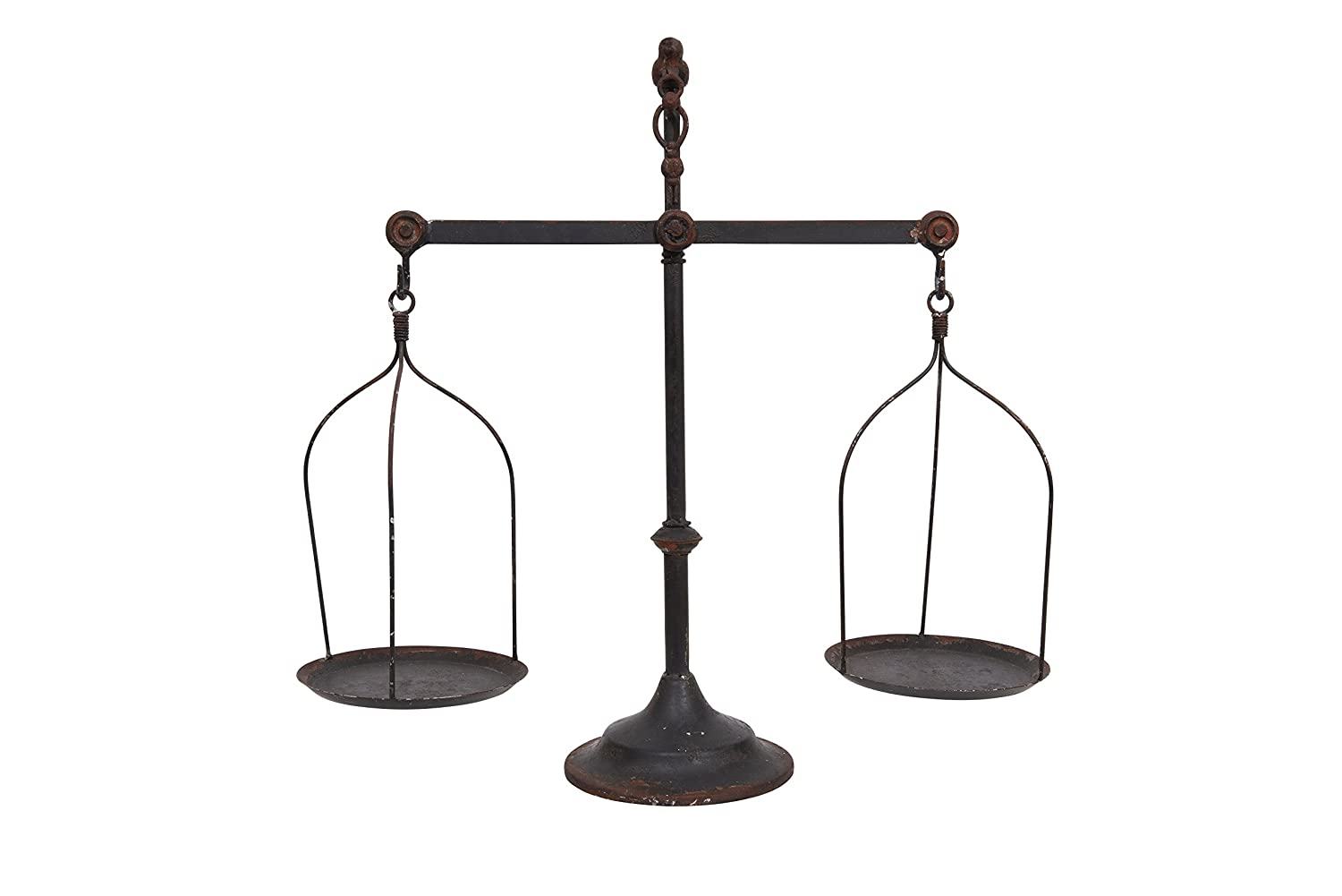 Creative Co-op Black Decorative Antique Iron Balance Scale with Bird