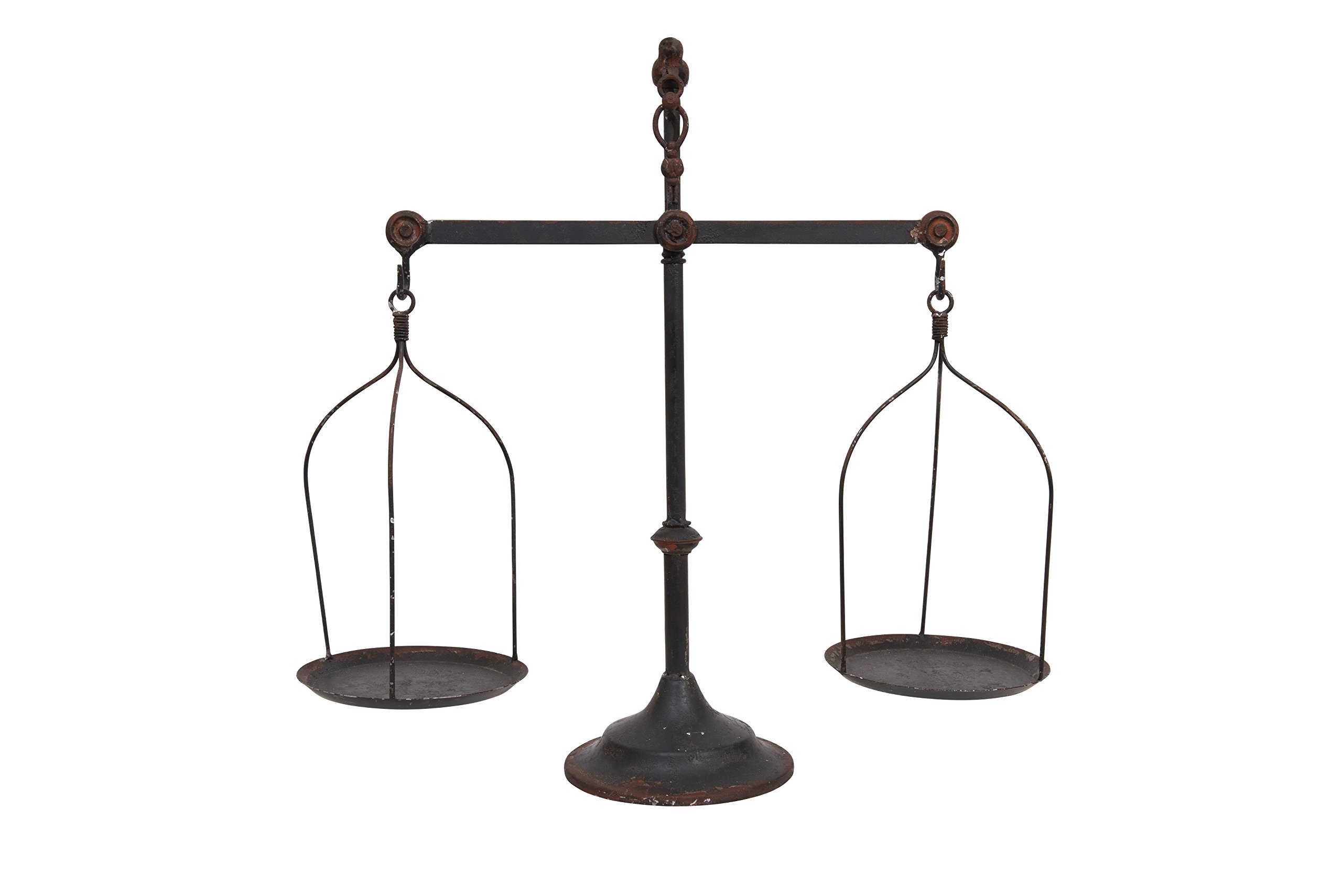 Creative Co-op Decorative Distressed Vintage Metal Scale with Bird Finial, Bronze by Creative Co-op