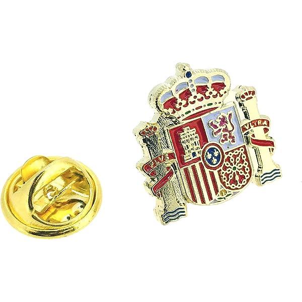 Juego de 4 x Insignias de Pin de Bandera de España.: Amazon.es ...