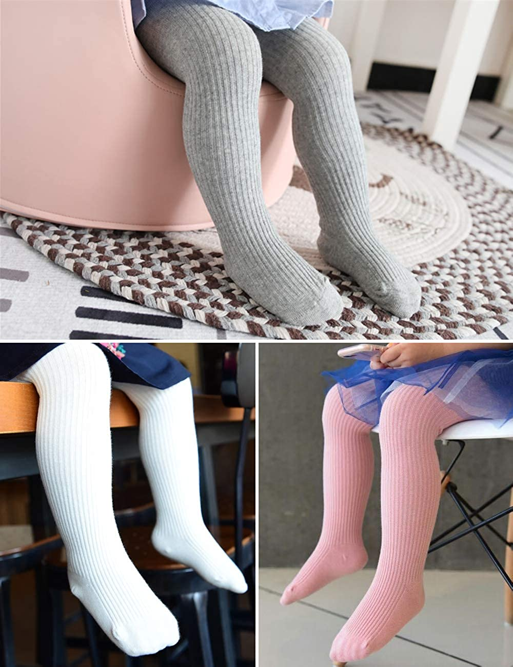 Cute Cotton Tights for Baby Girls Cable Knit Leggings Toddlers Boys Pantyhose Child Pants Stockings of Arctic Penguin 3 Pack