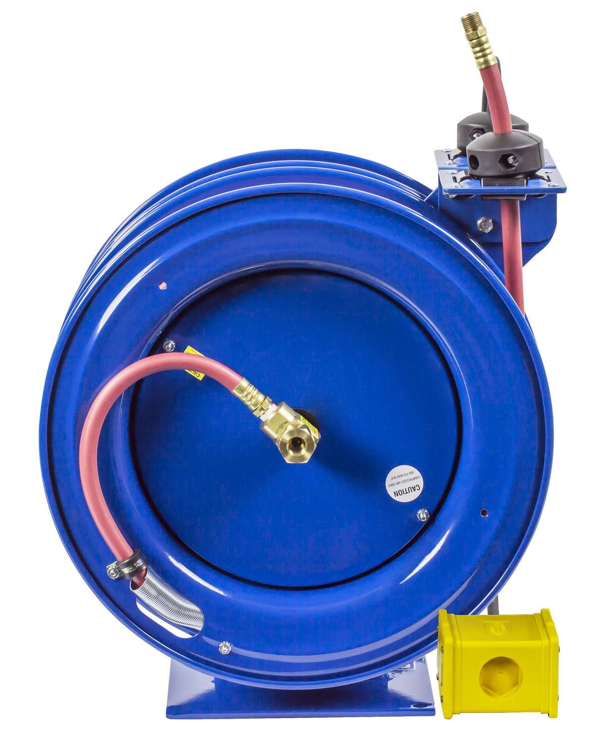 Coxreels C-L350-5012-B Combo Air and Electric Hose Reel with Quad Outlet Attachment, 3/8'' Hose ID, 50' Length by Coxreels (Image #3)