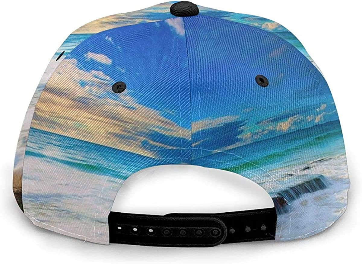 Sand Ocean Waterfall Landscape Lightweight Unisex Baseball Caps Adjustable Breathable Sun Hat for Sport Outdoor