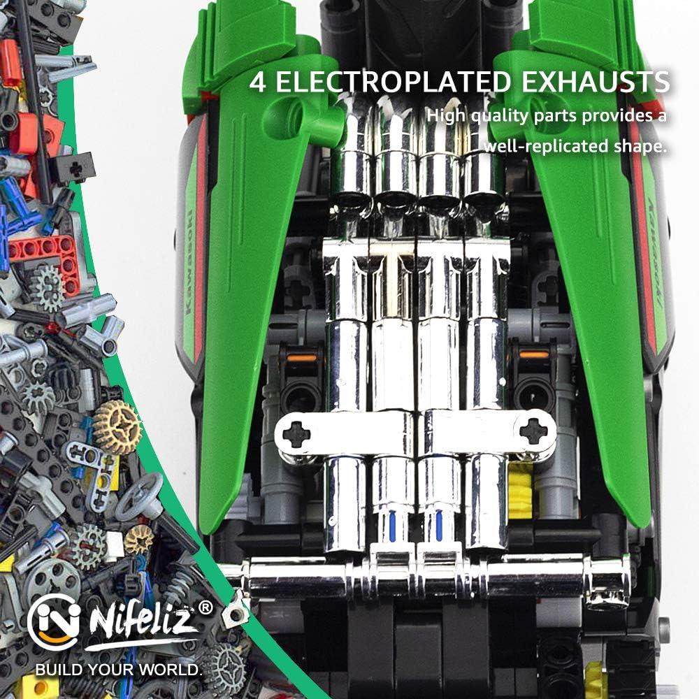 1006 Pieces Nifeliz 2X-25R Motorcycle Building Kit