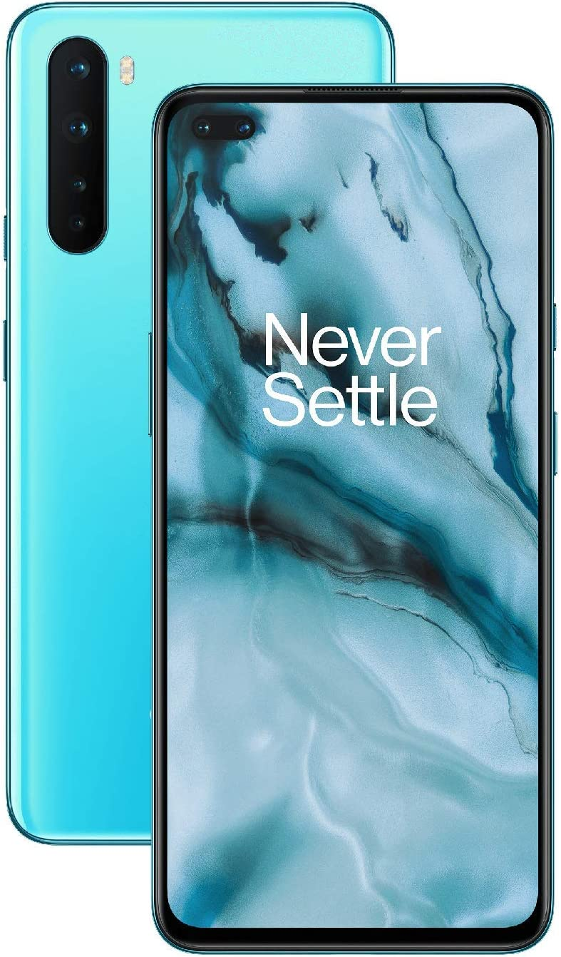 OnePlus NORD (5G) 8GB RAM 128GB UK SIM-Free Smartphone with Quad Camera, Dual SIM and 2 Years Warranty - Blue Marble