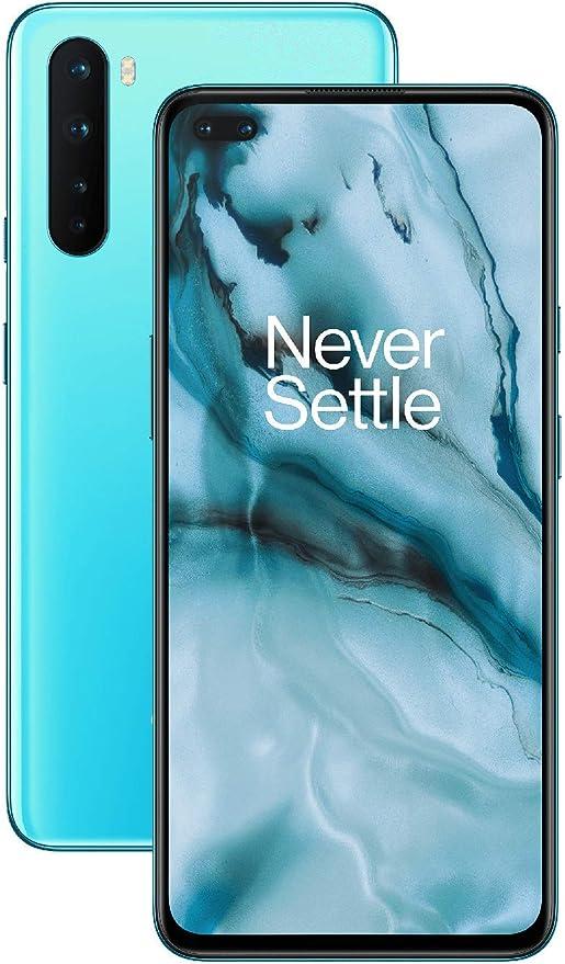 "OnePlus NORD Smartphone 6,44"" 5G 8GB RAM 128GB, con Quad Camera, Dual SIM, Alexa built-in, Blu (Blue Marble)"