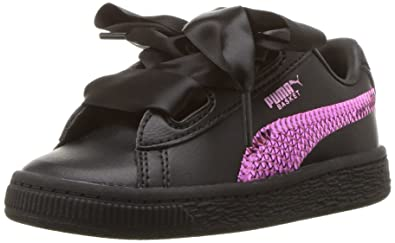 be5931569822 PUMA Baby Basket Heart Bling Kids Sneaker