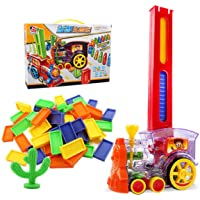 Kids Domino Electric Train Set Automatic Laying Choo Choo – Fun Creative Toy with Lights and Music