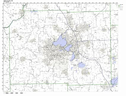 Amazon.com: Dane County, Wisconsin WI ZIP Code Map Not Laminated