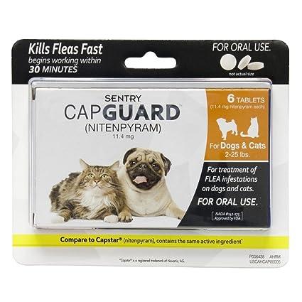 Amazon.com: Sentry capguard tabletas de pulgas para perros y ...