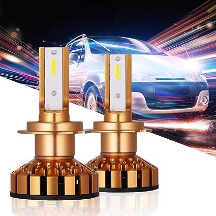 2pcs H7 COB led Headlight Bulb Conversion Kit car 50W 5000LM 6000K Cool White