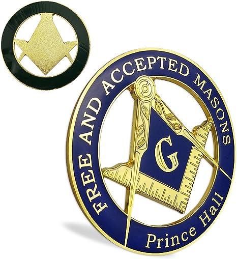 Mason Masonic Symbol Auto Emblem Freemason Gold Car Emblem Sticker