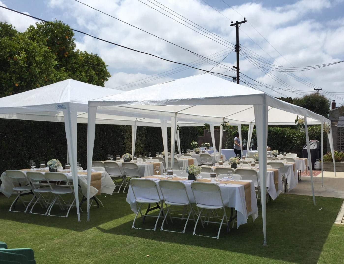 Teekland 10'x30' Outdoor Canopy Party Wedding Tent,Sunshade Shelter,Outdoor Gazebo Pavilion with 8 Removable Sidewalls Upgraded Thicken Steel Tube (10' x 30' / 8 Removable Sidewalls-1) by Teekland (Image #6)